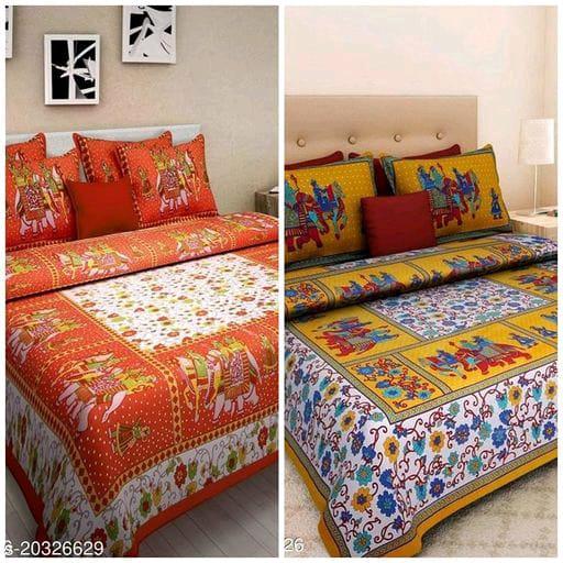 2 Bedsheet Combo – Graceful Stylish Bedsheets