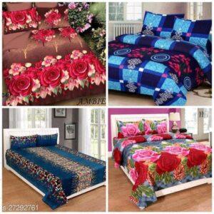 Classic Versatile Bedsheets- 4 Bedsheets Combo Offer