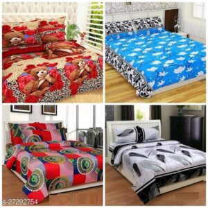 Classic Alluring Bedsheets – 4 Bedsheet Combo Offer