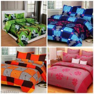 FALCONs TRENDY BEDSHEET COMBO- 4 Bedsheets