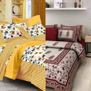 Combo Offer : 2 Cotton Graceful Fashionable Bedsheets