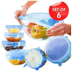 Silicone Stretch Lids For Food Cover ( Set of 6 )