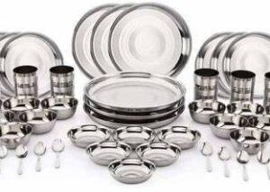 MSSteel Pack of 48 Stainless Steel Dinner Set