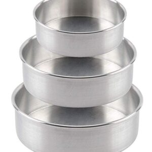 Cake Moulds- Aluminum Cake Baking Mould for Oven & Cooker(Set of 3)