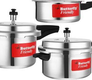 Butterfly Friendly 2 L, 3 L, 5 L Pressure Cooker