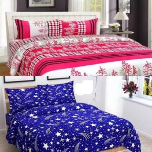 Nspire Luxuries 160 TC Cotton Double Floral Bedsheet  (Pack of 2, Multicolor)