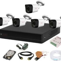 CP PLUS 8 Channal HD DVR 1080p 1Pcs,Outdoor Camera 2.4 MP 5Pcs,1 TB Hard Disk,Full combo set Security Camera