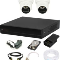 CP PLUS 4 Channal HD DVR 1080p 1Pcs,Colorful View In Nightvision Indoor Camera 2.4 MP 2Pcs,500 GB Hard Disk,Full combo set Security Camera