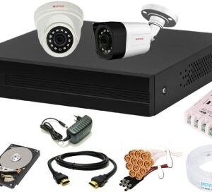 CP PLUS Full HD 4 Channel -500 GB HDD Full CCTV Kit Security Camera Security Camera