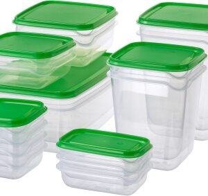 IKEA Food container, set of 17, – 150 ml, 1.8 L Polypropylene, Plastic Grocery Container