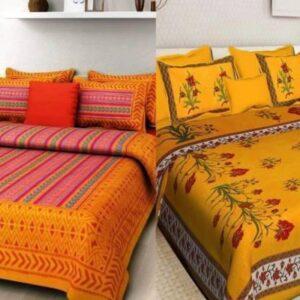 DHAKAD 104 TC Cotton Double King Printed Bedsheet