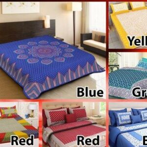 Elegant Bedsheets- 6 Pc   Pure Cotton Bedsheets and 12 Pillow Covers