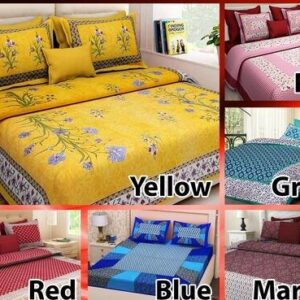 Elegant Bedsheets- 6 Pc Pure Cotton Bedsheets and 12 Pillow Cover