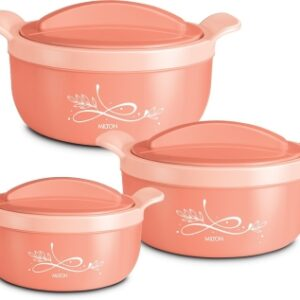 MILTON Premium Crave JNR Insulated Casserole with One Year Warranty Pack of 3 Thermoware Casserole Set