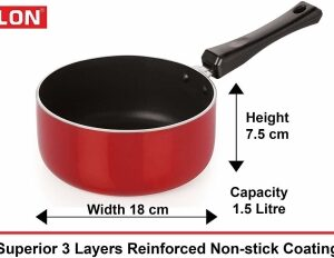 NIRLON Non-Stick Aluminium Cookware Set, 6-Pieces, Red/Black (FT12CTFP12KD12SPMCH_29_3) Cookware Set