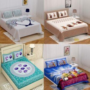 Homeline 150 TC Cotton Double King Jaipuri Prints Bedsheet