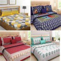 tripati sanganeri prints 104 TC Cotton Double Printed Bedsheet