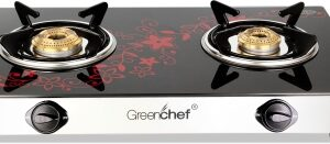 Greenchef Crystal Plus Glass Top Glass Manual Gas Stove With 2 Years Warranty