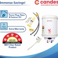 Candes 10 L Storage Water Geyser (Perfecto, Ivory) 5year Warranty