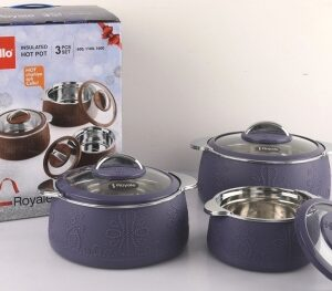 cello Royale Pack of 3 Thermoware Casserole Set