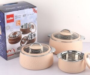 cello Royale Casserole Pack of 3 Thermoware Casserole Set
