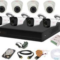 CP PLUS 8 Channal HD DVR 1080p 1Pcs,Outdoor Camera 2.4 MP 4Pcs,Indoor Camera 2.4 MP 4Pcs,1 TB Hard Disk,Full combo set Security Camera