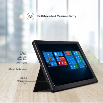 Avita Cosmos 2 in 1 Celeron Dual Core – (4 GB/64 GB EMMC Storage/Windows 10 Home) NS12T5IN021P 2 in 1 Laptop (11.6 inch, Charcoal Grey, 1.327 kg)