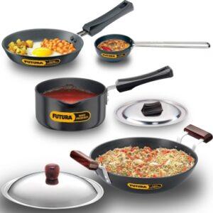Futura Futura Hard Anodised 4 Piece Cookware Set 7 (ASET7) Cookware Set