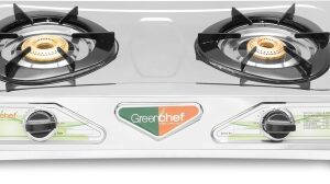 Greenchef Ruby Stainless-steel Stainless Steel Manual Gas Stove with 2 Years Warranty
