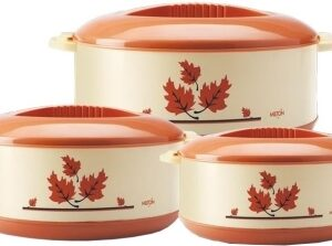 MILTON Orchid JR Pack of 3 Thermoware Casserole Set