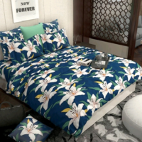 100% Cotton Comforter with 1 Bed Sheet and 2 Pillow Covers