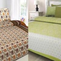100% Cotton Double Size Bedsheet 2 Pc Combo Set