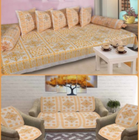 Cotton Sofa Cover and Diwan Set