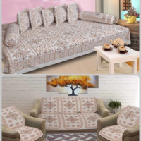 Cotton Diwan Set and Sofa Cover