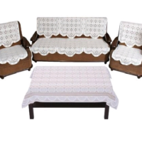 100% Cotton Sofa and Table Cover Combo Set
