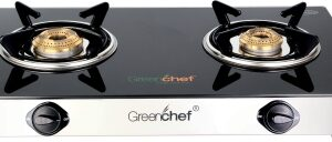 Greenchef Crystal Glass Manual Gas Stove with 2 Years Warranty