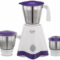 Preethi Crown MG-205 500 W Mixer Grinder (3 Jars, White/Purple)