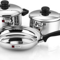 Butterfly STEEL COOKWARE SET-3 PCS Induction Bottom Cookware Set